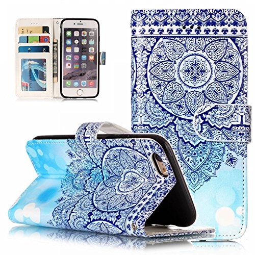 iPhone 6S Plus Case,iPhone 6 Plus Case, Dooge Cameo Design [Kickstand Feature] Premium PU Leather Flip Wallet Case with ID&Credit Card Pockets Cash Clip, Magnetic Closure for iPhone 6S Plus/6 Plus