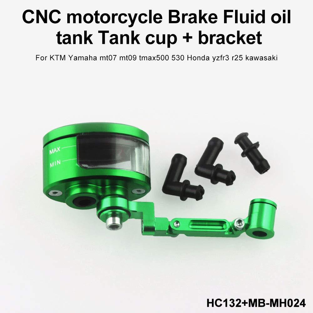 Accesorios de motocicleta Universal CNC Embrague de freno Cilindro maestro Depósito de fluido Tanque Taza de aceite Motocicleta (Color : Green): Amazon.es: ...
