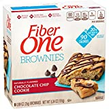 Fiber One Brownies, 90 Calorie Bar, Chocolate Chip Cookie, 6 Fiber Bars, 5.34 oz For Sale