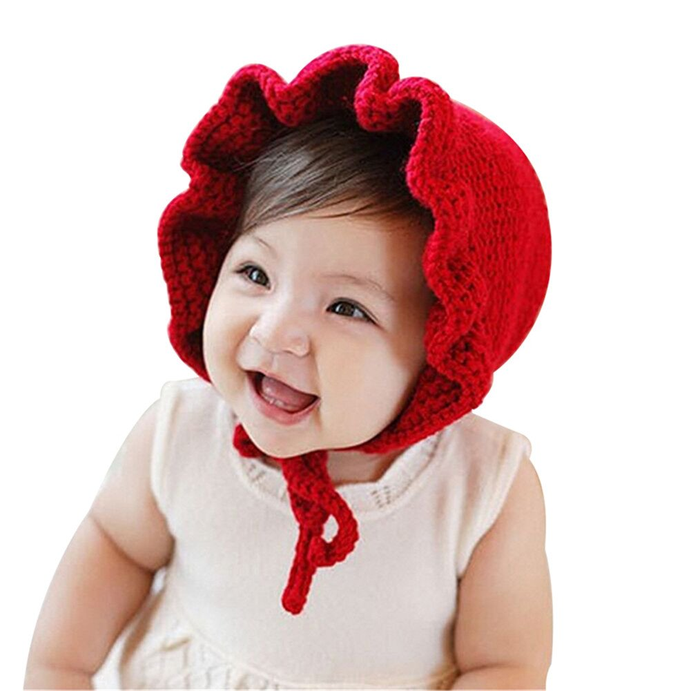 LianLe® Baby Girls 0-24 Month Flouncy Retro Hat Wool Bonnet Double-Side Cap