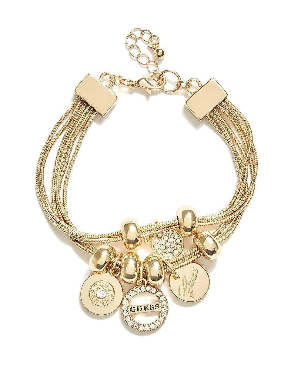 GUESS Factory Women\'s Gold-Tone Charm Bracelet
