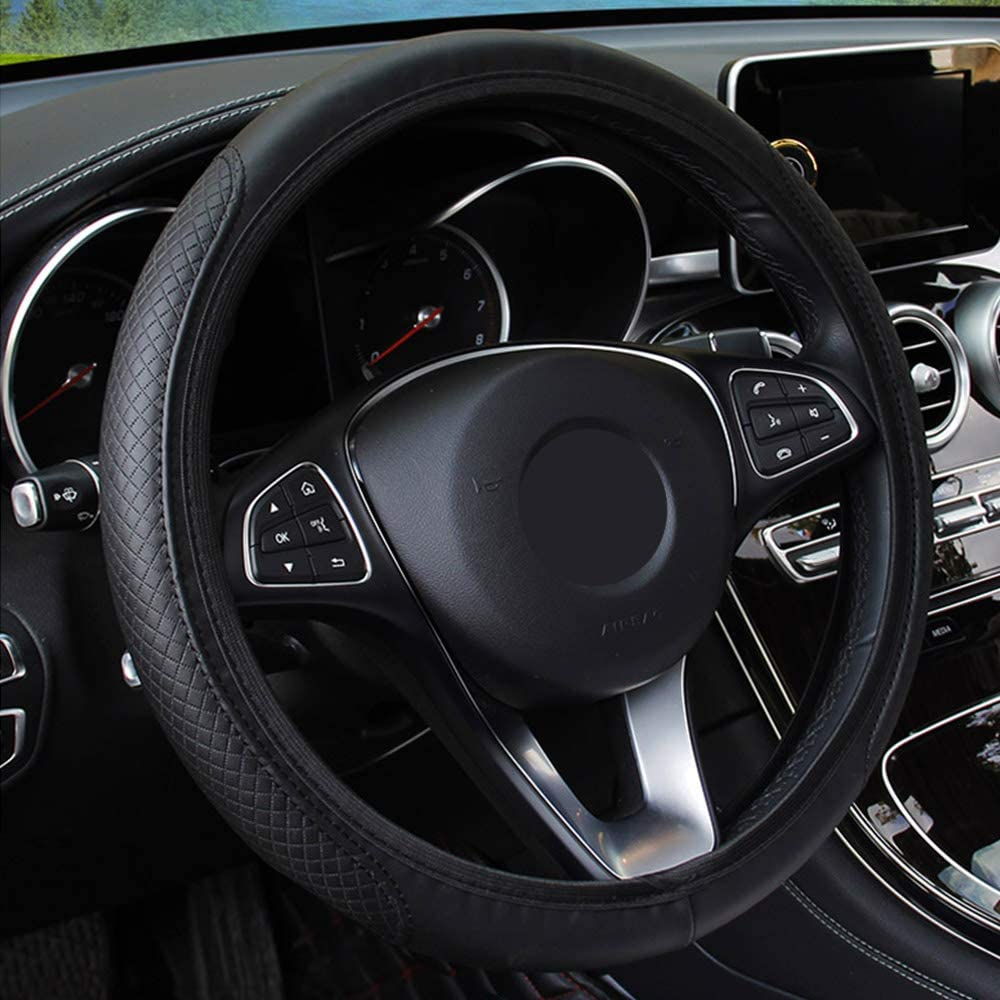 Embossing Leather iTimo Car Universal Steering Wheel Cover Skidproof