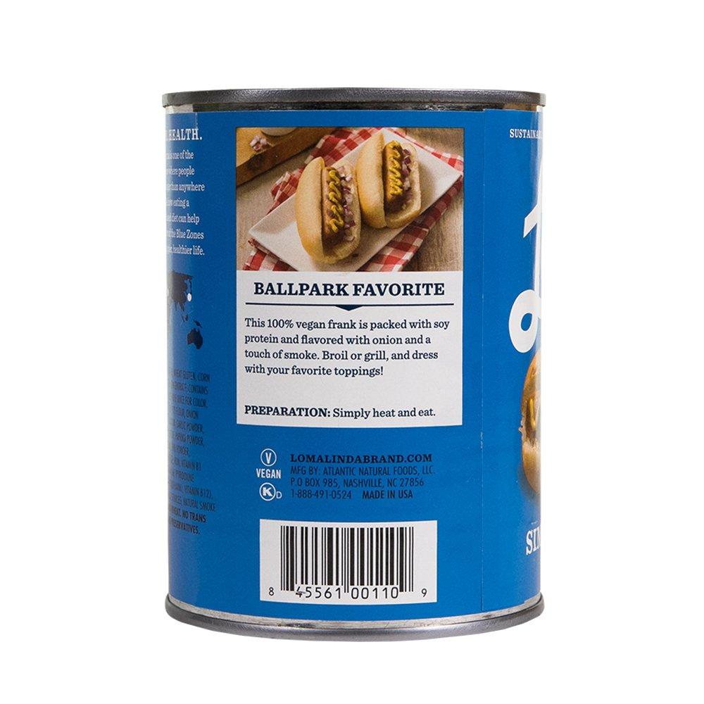 Loma  Linda Blue - Plant-Based - Simple Franks (20 oz.) (Pack of 6) - Kosher by  (Image #5)