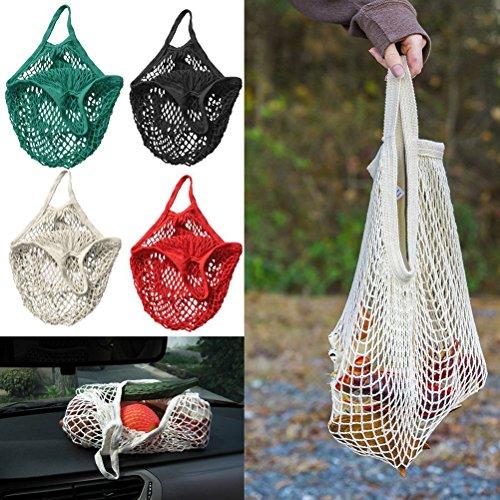 PIXNOR Einkaufsnetz ,Cotton String Einkaufstasche Netzbeutel (weiß)