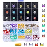 Winlyn Low Profile Mini Blade Fuse Assortment 140pcs Assorted Auto Car Truck 2 3 5 7.5 10 15 20 25 30 35 40AMP Car Boat Truck SUV Automotive Replacement Fuses - Mini APS/ATT Blade Fuses