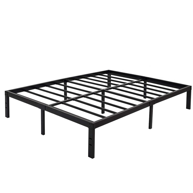 ZIYOO Bed Frame 14 inch Heavy Duty Steel Slat Platform Strengthen Support Mattress Foundation No Box Spring Needed, Full