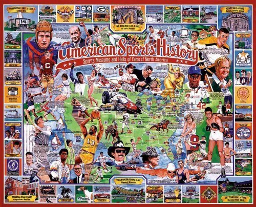 American Sports History 550 Piece Puzzle by White Mountain Puzzles made in New Hampshire