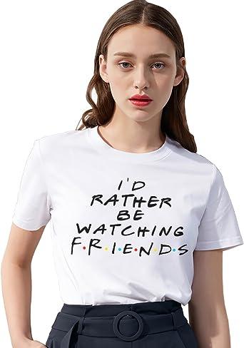 Logo Camiseta Best Friend TV Show Fan Serie Shirt Mejor Amiga Blanco Negro T-Shirt Impresión Manga Corta Verano para Mujer Regalo: Amazon.es: Ropa y accesorios
