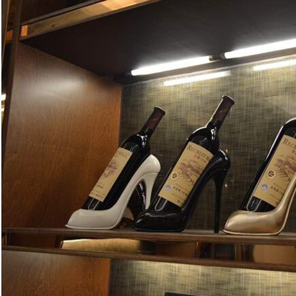 Noir Maison Salon Table Ornements D/écoration;Cadeaux d/écoratifs DYP Accueil Cadeaux Creative Escarpin Bouteille de vin Statue Rack Cuisine D/écoration de Bureau Wine Rack