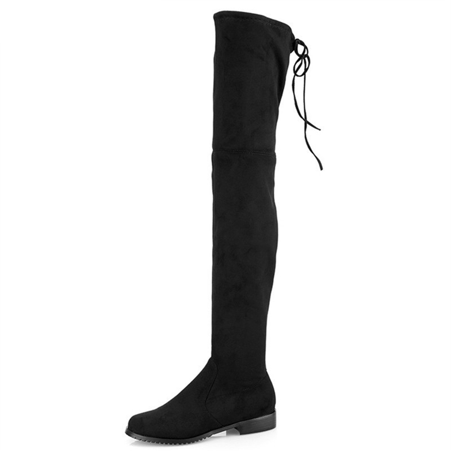 Dormery Women Boots Stretch Faux Faux Faux Suede Over The Knee Boots Flat Thigh High Boots Ladies Long Autumn Winter Shoes Gray B078QXCD7M Boots 15a791