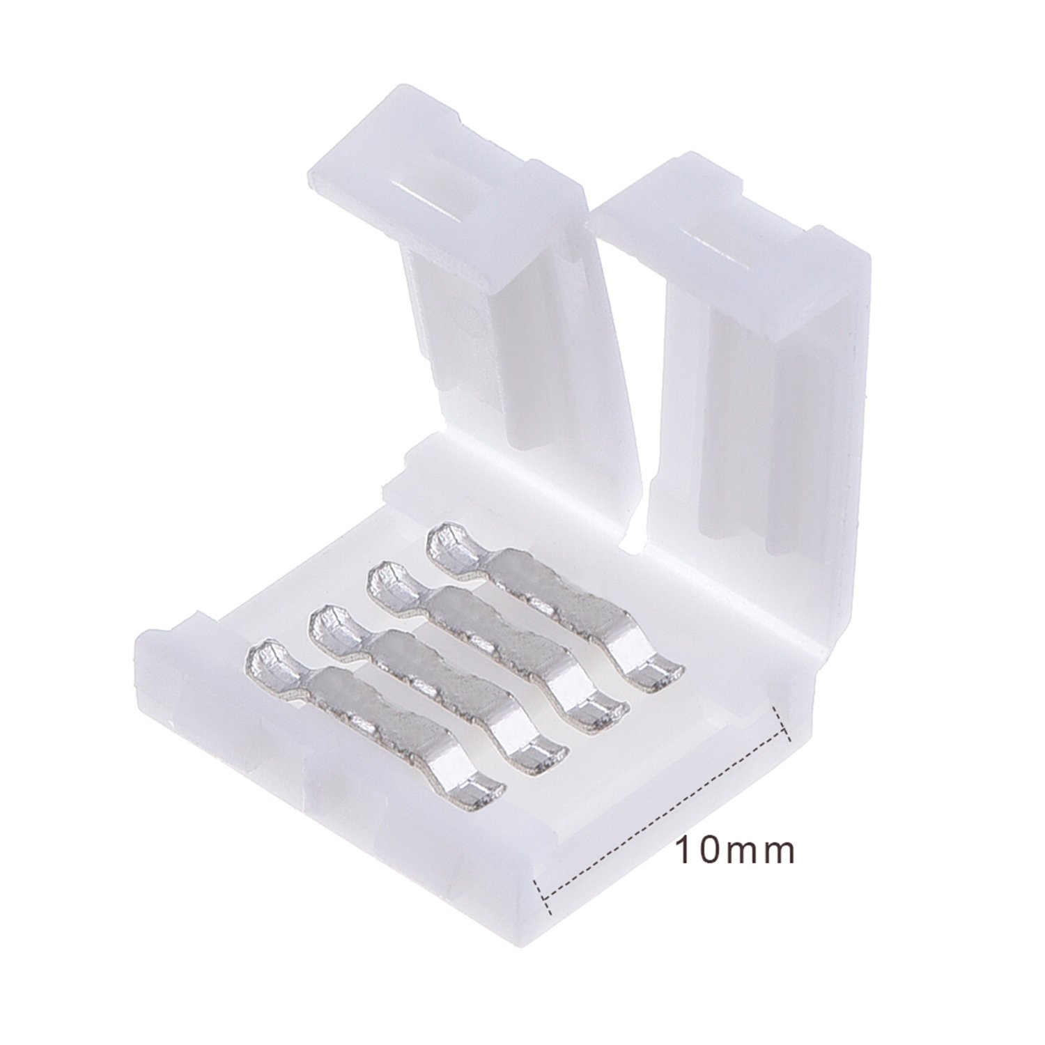 20 Pieces LED Strip Connector for 5050 RGB LED Strip Lights