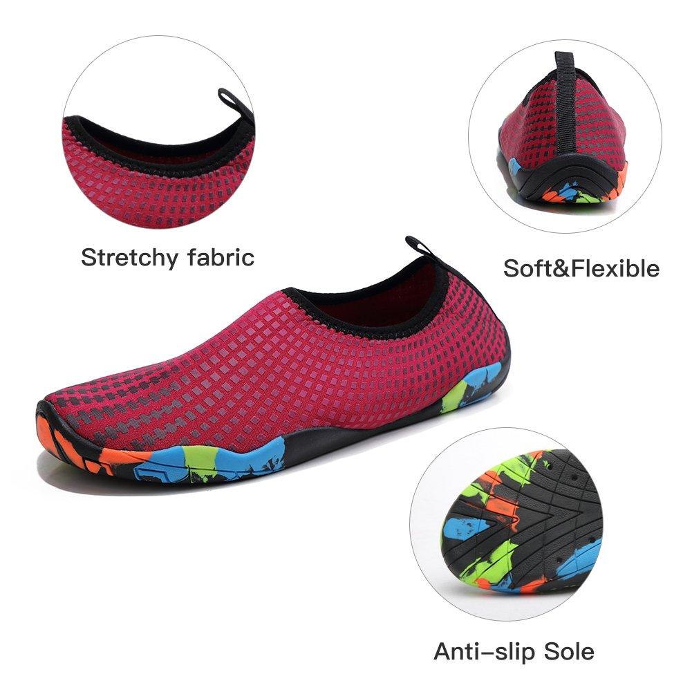GUBARUN Mens Water Shoes Swim Shoes for Women Quick-Dry Beach Barefoot Surf Yoga Boat Sneakers WU5043