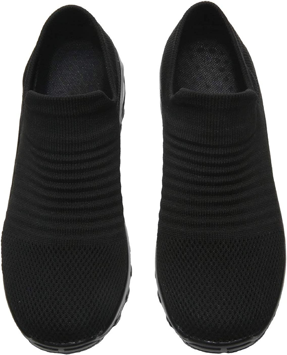 Womens Woven Breathable Dance Shoes Without Laces Thickened Increased Air Cushion Soles Working Walking Shoes