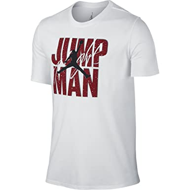 8f68ce2c485fe7 Jordan Jumpman Flight Men s T-shirt Grey Red Black 801070-063 - Grey ...