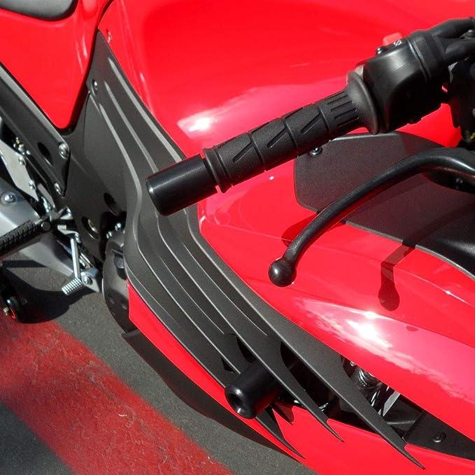Shogun Kawasaki ZX14R ZX14 2012 2013 2014 2015 2016 2017 2018 2019 2020 White No Cut Frame Sliders MADE IN THE USA 750-4710