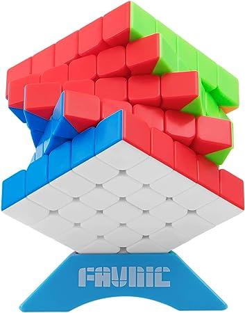 FAVNIC Speed Cube, Cubless Magic Cube Speed Magic Cube Puzzle para niños y Adultos (5x5): Amazon.es: Juguetes y juegos