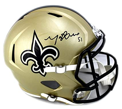 Manti Te o Signed New Orleans Saints Riddell NFL Full-Size Speed Helmet - 922fa0a62