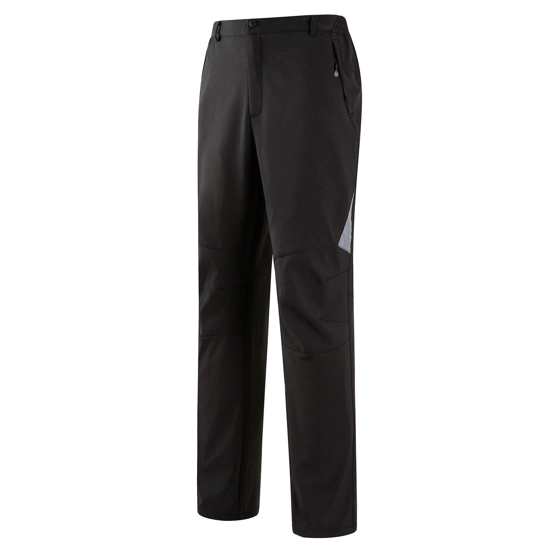 Syrads Uomo Pantaloni da Trekking Campeggio Fodera in Pile Antivento Traspirante Addensare Pantaloni da Arrampicata Allaperto Caldi Inverno