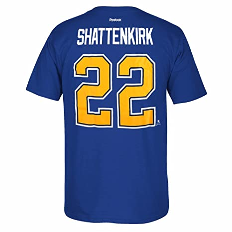 Reebok Kevin Shattenkirk St Louis Blues NHL Blue Official Premier Player  Name   Number Jersey T 52e173b21