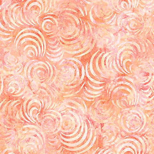 (Wilmington Prints Whirlpools Essential 108 Inch Wide Quilt Backing Orange)