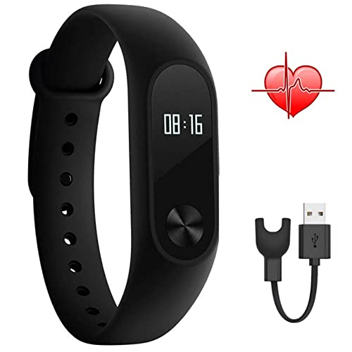 Xiaomi Band 2,Mi band 2 Smart Wristband With OLED Display Calculation Steps Heart Rate Waterproof Wireless Bluetooth 4.0 Wristband Monitor Fitness Tracker (black)