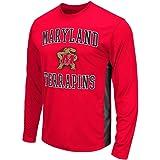 Mens NCAA Maryland Terrapins Long Sleeve Performance Tee Shirt (Team Color)