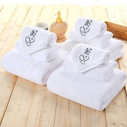 Premium juego de toallas con Imperial (King & Queen) bordado Logo