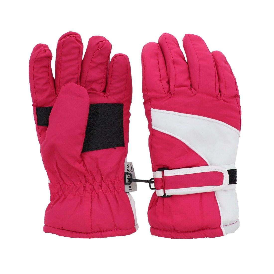 Waterproof White Trim Design Ski Gloves for Youth