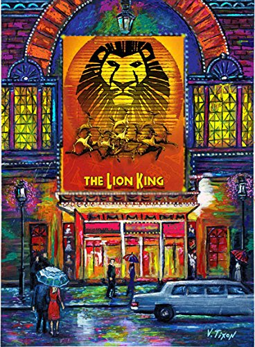 LION KING. Times Square. Broadway Musical Show. New York - Art Painting On Canvas /giclee 16x20