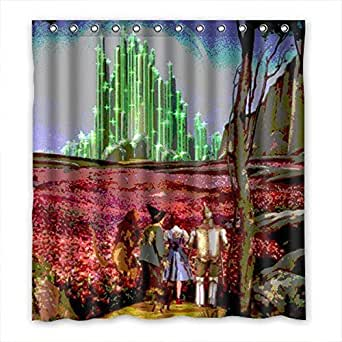 Amazon.com: SANMOU Custom The Wizard of Oz Shower Curtain