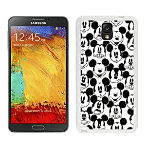 Genuine Mickey Mouse (2) White Samsung Galaxy Note 3 Screen Cellphone Case Lovely and Newest Design
