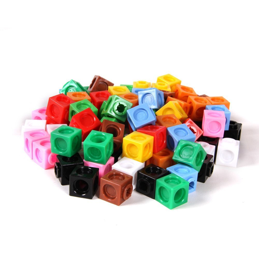 hand2mind Multi-Sided, Linking Cubes, Educational Counting Toy (Set of 1000)