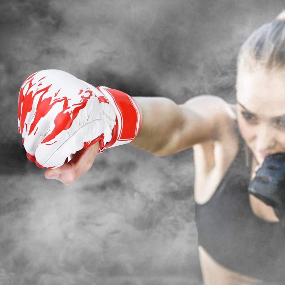 Alomejor Guantoni da Boxe Mezzo Dito Sacco di Sabbia Muay Thai Guanti da Addestramento per Sparring Kickboxing Guanti da Combattimento Muay Thai