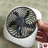 Portable Personal Fan, Battery Powered, Adjustable, Super Quiet, 2- Speed, Indoor-Outdoor, Grey, & eBook by BestOffer4You