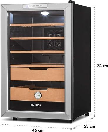 Cave à cigares luxe Humidor 33L Conservation tabac Réglage température Classe A+