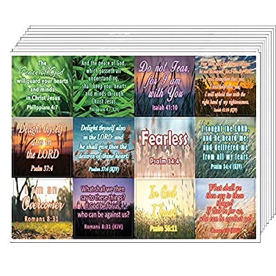 Bible Verses to Soothe Your Soul Stickers (10-Sheet) - Encouraging Colorful Stickers : Office Products