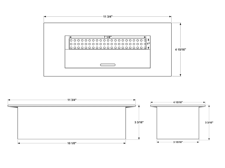 Ignis EB1200 Dimensions