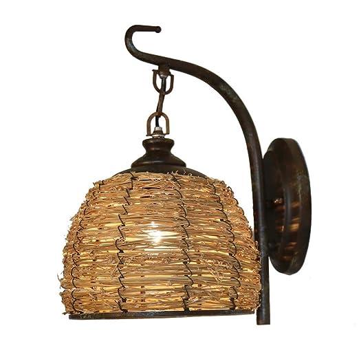 LHFING E27 Lámparas de Pared Creativo Vintage Apliques de Pared ...
