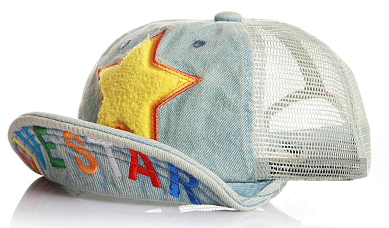 Roffatide Niños Las Estrellas Malla Gorra de Béisbol Verano Al Aire Libre Ajustable Sombrero de Sol