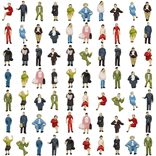 (Evemodel P8717 72pcs HO Scale 1:87 Seated and Standing People Figures Passengers New )
