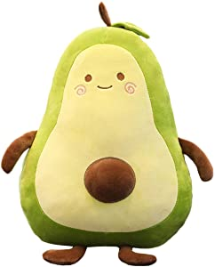 Gianthairball Avocado Plush Food Pillow Cute Funny Fruit Throw Pillows Stuffed Toy, 25.6