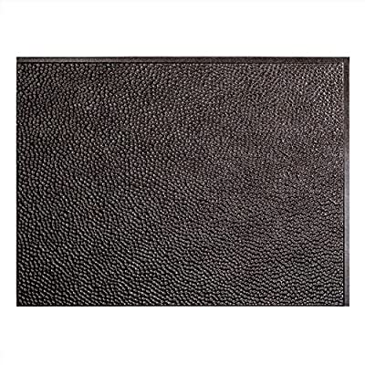 """Fasade Easy Installation Hammered Smoked Pewter Backsplash Panel for Kitchen and Bathrooms (18"""" x 24"""" Panel)"""