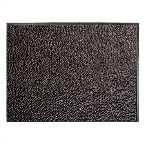 Fasade Easy Installation Hammered Smoked Pewter Backsplash Panel for Kitchen and Bathrooms (18'' x 24'' Panel) by Fasade
