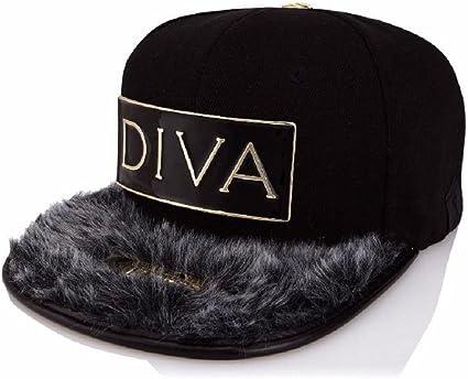 Xtress Exclusive Gorra negra de visera plana con el logo DIVA ...