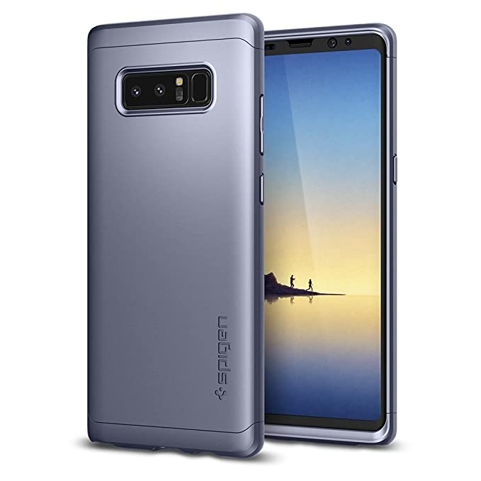 factory price 858ff 2509d Spigen Thin Fit 360 Galaxy Note 8 Case with Exact Slim Full Protection and  Tempered Glass Galaxy Note 8 Screen Protector (2017) - Orchid Gray