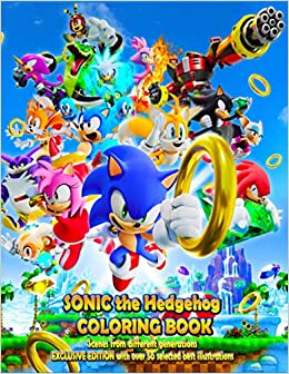 Sonic the Hedgehog COLORING BOOK: EXCLUSIVE EDITION with ...