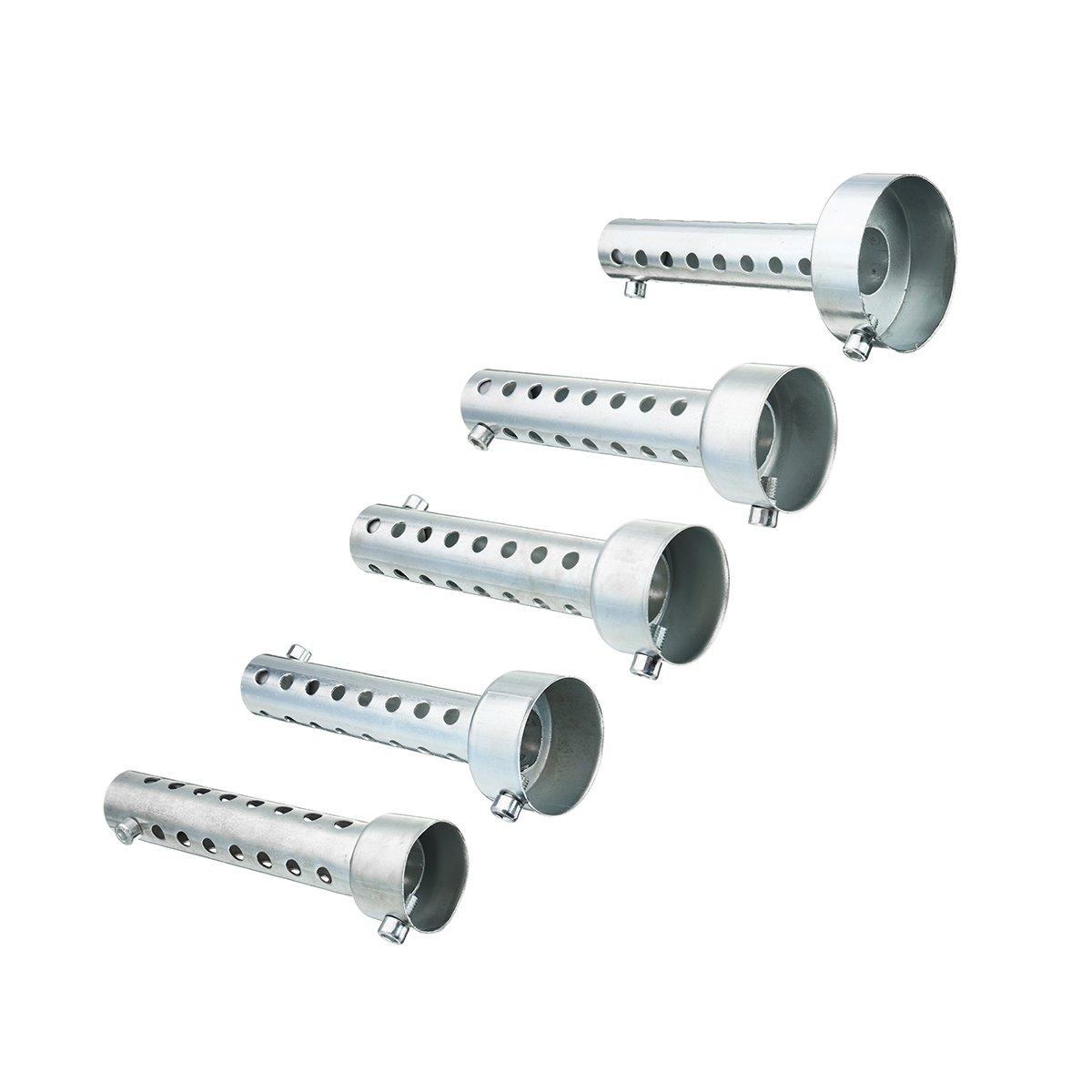 Wooya 35Mm//42Mm//45Mm//48Mm//60Mmmotorrad-Auspuff Kann Muffler Silencer Chrome Universal-35Mm
