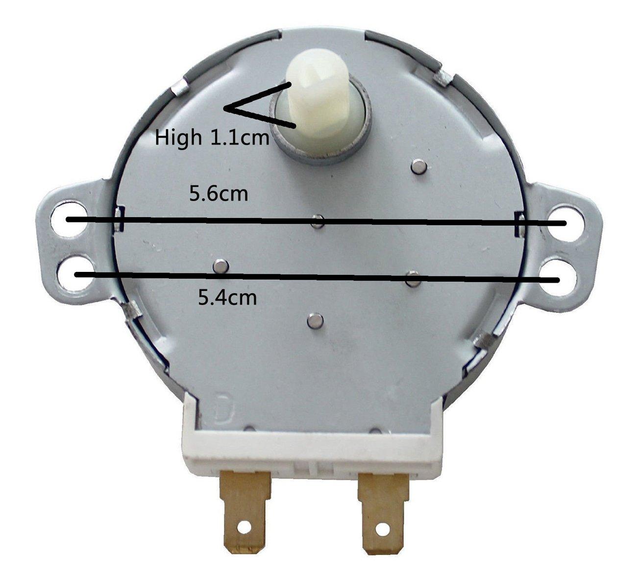 Zkee Shop TYJ508A7 Horno microondas TYJ50-8A7 4W 5/6 RPM 11mm ...