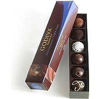Godiva Chocolatier Truffle Flight, Dark Decadence, 6 Count Gift Pack, Great for Gifting