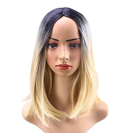 Peluca de Bob de las mujeres peluca del color del gradiente de la ...